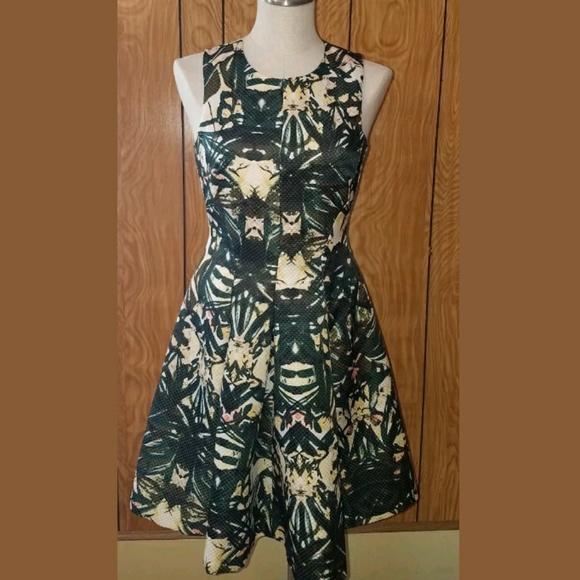 ada6efa6cd H&M Dresses   H M Floral Tropical Fit And Flare Dress Sz 6   Poshmark